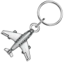 Pewter Airline Keychain