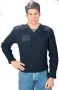 Wool V-Neck Sweater - Navy 40